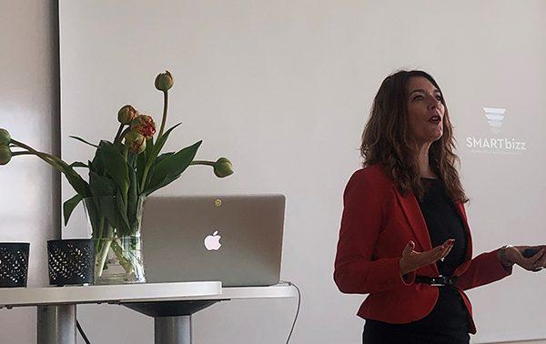 Linda Björck föreläser om LinkedIn hos Invici i Malmö