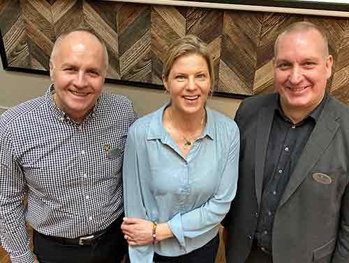 A-gänget: Anders, Ann-Sofie och Anders på Close frukostföreläsning
